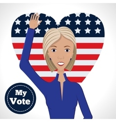 Female political candidate vector