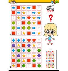 Fill pattern educational game for children vector