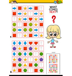 Fill the pattern educational game for children vector