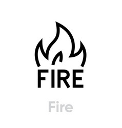 fire abstract logo icon editable line vector image