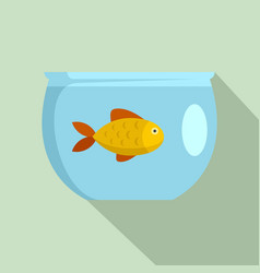 fish in aquarium icon flat style vector image