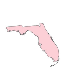 florida map isolated on white background vector image