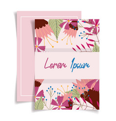 Flowers floral wedding cards greeting cover design vector