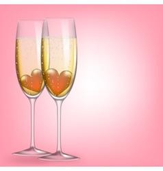 glasses champagne vector image