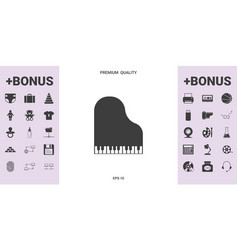 grand piano icon - graphic elements for your vector image
