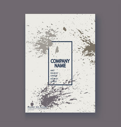 Grey explosion paint splatter artistic cover vector