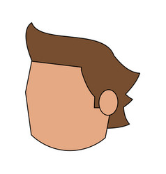 Head of man avatar icon image vector