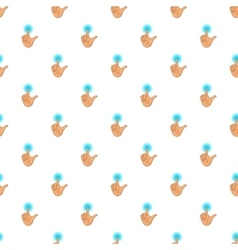 Human hand touch pattern cartoon style vector image