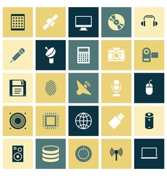 icons for technology and devices vector image vector image