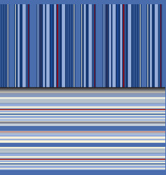 indigo stripes background in seamless pattern vector image
