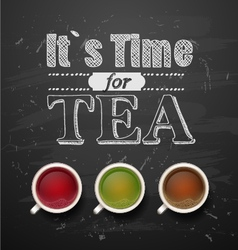its time for tea vector image