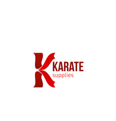 karate supplies icon vector image