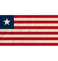 Liberia paper flag vector
