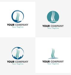 medical hair logos vector image