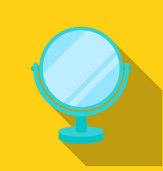 mirror icon in flat style isolated on white vector image