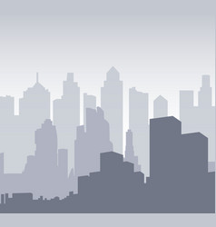 multilayer silhouette of a night city background vector image