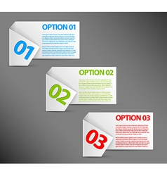 One two three - white paper options vector