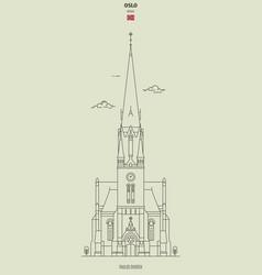 paulus church in oslo norway vector image