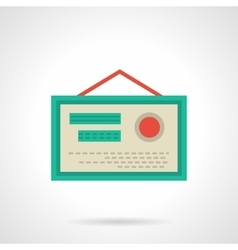 Pharmacy certificate flat color icon vector image