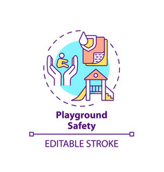 Playground safety concept icon vector
