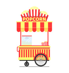 popcorn stand with cup product vector image