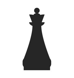 queen flat black icon object of chess pieces vector image