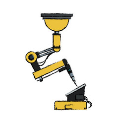 Robotic arm symbol robot technology control vector