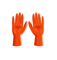 rubber gloves icon realistic style vector image