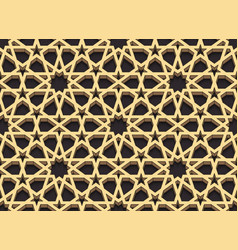 Seamless pattern in arabian style 3d effect color vector