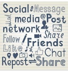 Social media lettering vector