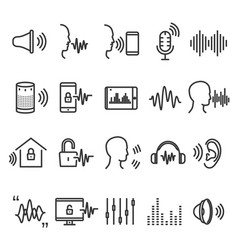 speech recognition device vector image
