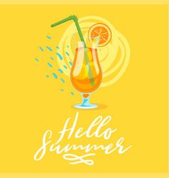 summer design template card vector image