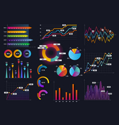 technology graphics and diagram with options vector image