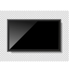 tv modern blank screen lcd led isolated on vector image