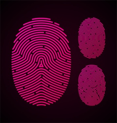 Types fingerprint patterns vector