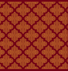 Vintage chinese seamless pattern with gold decor vector