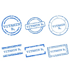 Vitamin B5 stamps vector image