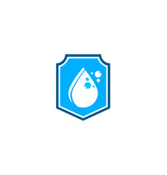 Waterproof water shield logo template vector