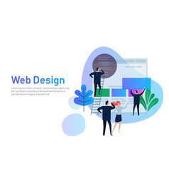 web design creative teamwork vector image