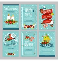 Christmas Hand Drawn Poster Set vector image vector image