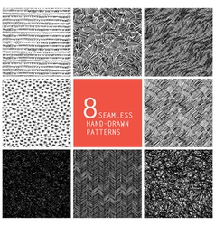 seamless patterns collection vector image vector image