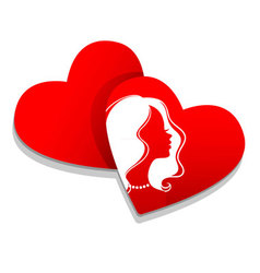 silhouette hearts vector image vector image