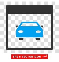 Automobile car calendar page eps icon vector