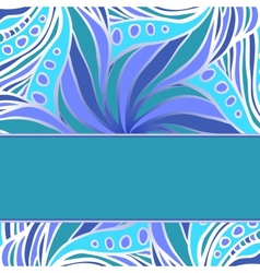 Blue pattern with stripe vector image vector image