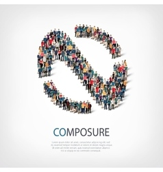composure people 3d vector image vector image