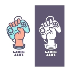 Gamer for life t-shirt design Hand with joystick vector image vector image