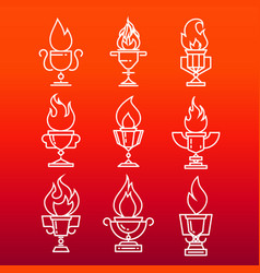 goblet of fire vector image vector image