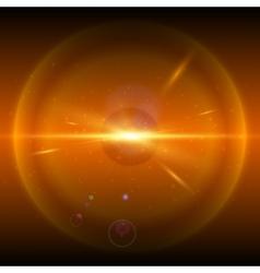 Orange cosmic explosion vector image