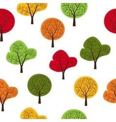 Trees seamless vector image vector image
