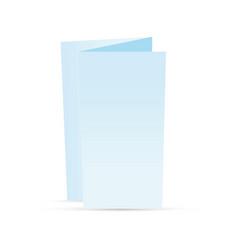 blue trifold leaflet vector image vector image